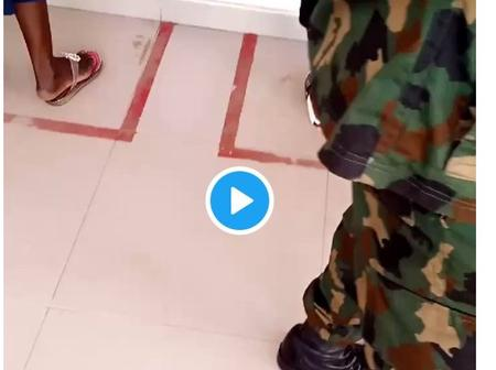 Remember the soldier who flogged a woman after jumping an ATM queue (video), he has been arrested