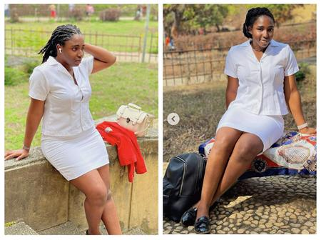 My School Is After My Life - Ifedioku Says As She Slays In Her Medical Uniform (Photos)