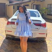Penny Lebyane shows off her new AMG on her current post with her family.