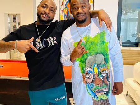 Actor Zubby Michael Excited As He Shares Photos Of Himself Hanging Out With Davido