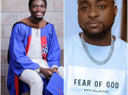 Destiny Helper, See How Davido Helped a Nigerian Boy to Graduate With First Class in University