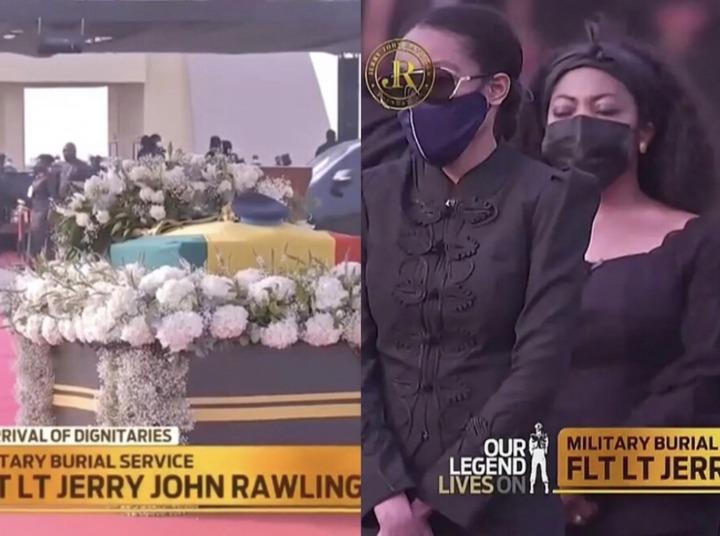 794e6fc160634218b534b3e5a21da366?quality=uhq&resize=720 - Sad: Nana Konadu Agyemang-Rawlings And Children Arrives At The Funeral Grounds For The Final Funeral Rite