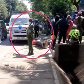 (Video) Panic As Police Shoot a Boda-Boda Operator After Trying to Snatch a Phone from a Woman