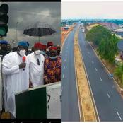 Behold The Dual Carriage Road Gov. Hope Commissions Along With Chairman Of Governors Forum In Imo