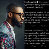 How Nigerian Singer Answered A Twitter User Who Criticized His Music