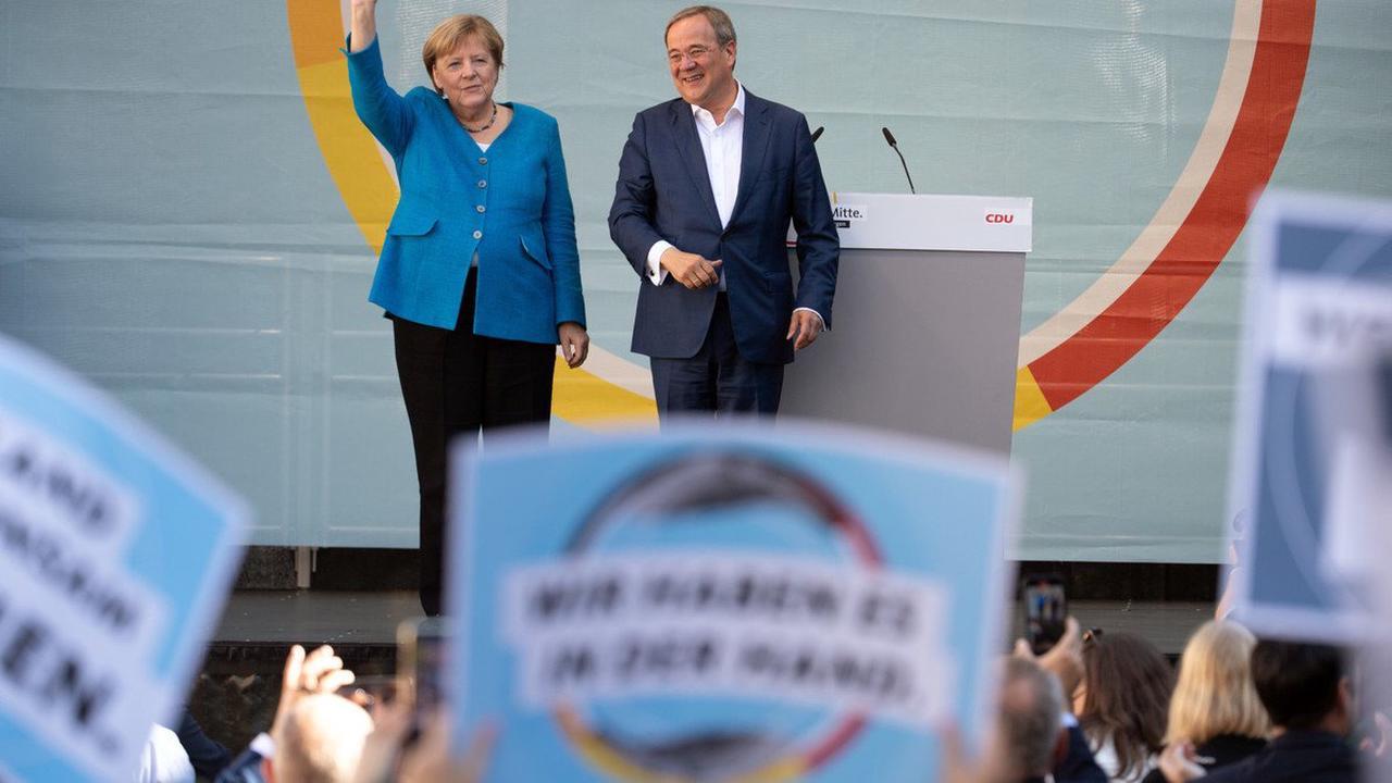 Bundestagswahl 2021: Kanzlerin Merkel wirbt für Unions-Spitzenkandidat Laschet: Nicht egal, wer regiert