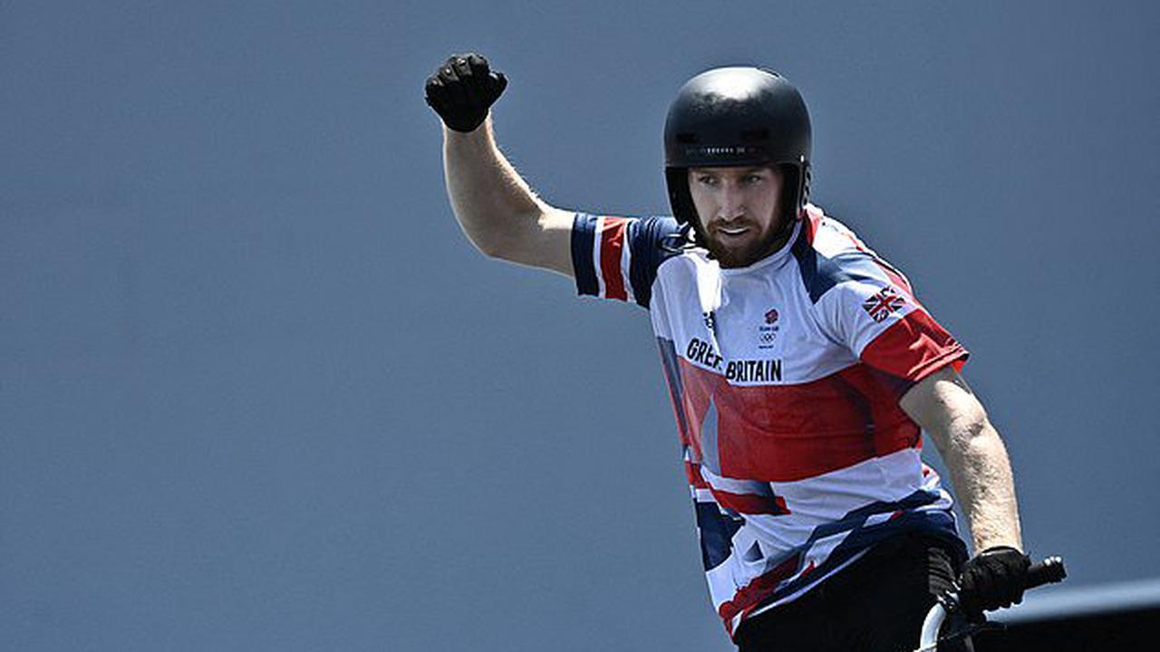 Britain earn another BMX medal as Declan Brooks wins BRONZE with in the men's freestyle as he pulls off two front flips to earn a score of 90.80 while Australia's Logan Martin takes gold with 92.05