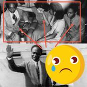History- Rare Photo Of Fathia Weeping Sadly After Nkrumah's Overthrow, Consoled By Children Emerges