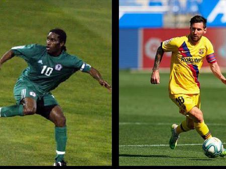 Opinion: Okocha is a better dribbler than Messi - Check out fans' reactions on social media(photos)
