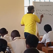 PS Dr Karanja Kibicho Is A Mathematics Genius! See His Photo While Teaching High School Students