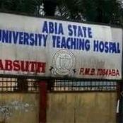 Road leading to Abia State University Teaching Hospital in a deplorable situation