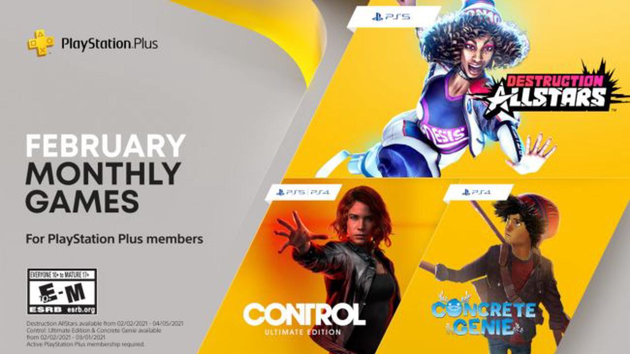 Control et Concrete Genie dans le PlayStation Plus de février