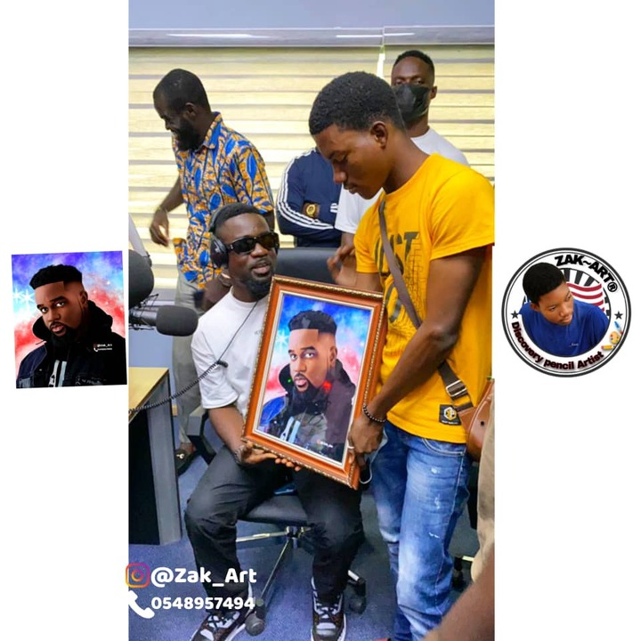 Meet The Young Pencil Artist, Zak Art, Who Did Artworks For Sarkodie, MzVee etc