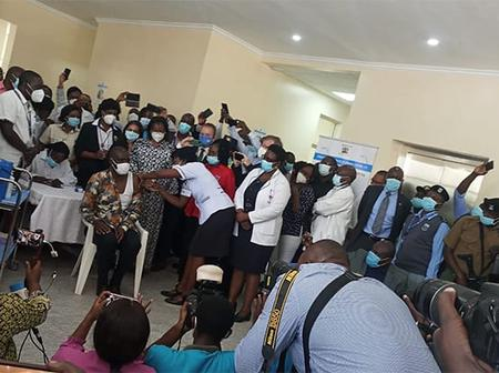 Initial 10 individuals get COVID-19 immunization at Kenyatta National Hospital