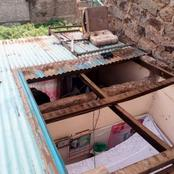 Inhumane Landlord Removes The Roof Tenant's House Due To Unpaid Rent Arrears