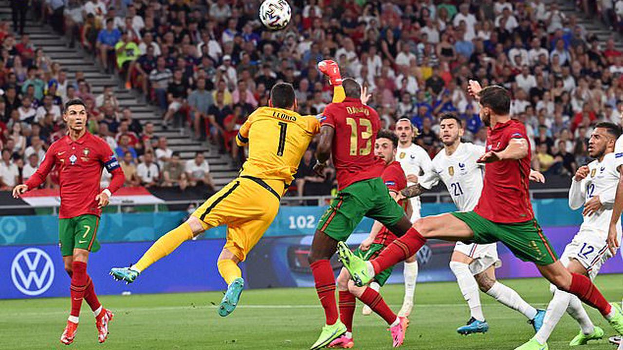 Hugo Lloris gave away a penalty to Portugal for a punch on Danilo Pereira