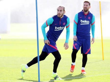 Barca players resume training after international break (See photos)