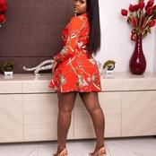 Davido's baby mama, Chioma shows off her beauty in this short gown outfit