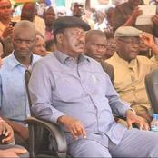 Kenyans React After Raila Is Captured Sleeping In A Public Gathering