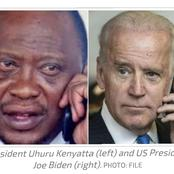 President Joe Biden Called President Uhuru For the First time After Election