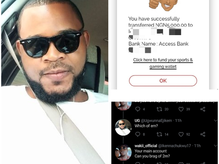 After He Was Challenged About Having N2m In His Bank Account, See What He Did That Stirred Reactions