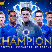 Rangers FC are officially champions of the Scottish premiership 2020/2021 season.