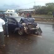 Just In: Another Bad Road Accident Reported Early This Morning Involving 4 Vehicles Along Thika Road