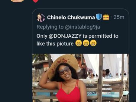 Don Jazzy Finally Replied The Girl Who Said Only Him Is Permitted To Like Her Picture, See Reply