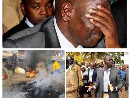 Ruto's Brigadiers Teargassed in Kenol-Murang'a as One Person is Confirmed Dead in the Morning Clash