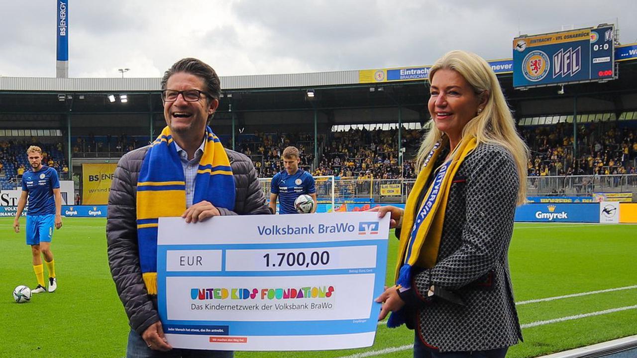 Braunschweig: Löwen schossen 17 Heimtore - Volksbank BraWo hat 1.700 Euro gespendet