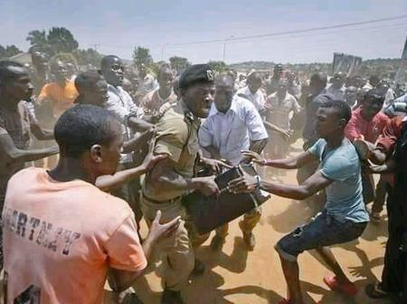 Ugandan Police Caught With Box Full of Museveni Ballots