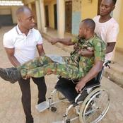 I'm An Orphan, Help Me, I Don't Want My Life To End Like This–Wounded Soldier Abandoned By Army Begs