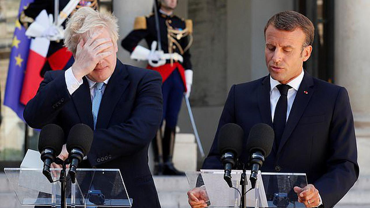 Macron the jilted lover... Boris Johnson breaks into 'Franglais' jibes and appears to liken the French President to a romantic partner who learned they were being dumped at the last minute