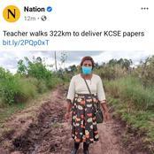 Headmistress walks 20 kilometers to deliver KCSE documents