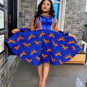 Gorgeous Dressing Styles Designed With Ankara Patterned And Plain Materials To Make Ladies Beautiful