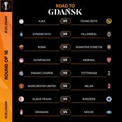 Confirmed : UEFA EUROPA LEAGUE Round of 16 Full Draws and Fixtures