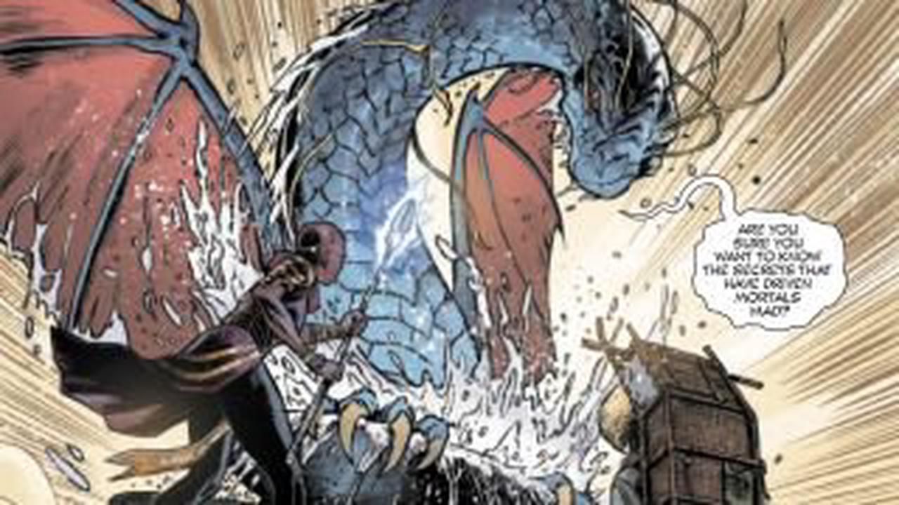 Okoye of Wakanda takes on a dragon in Iron Fist: Heart of the Dragon #4