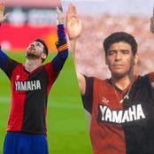 L'histoire du maillot de Messi et Maradona.