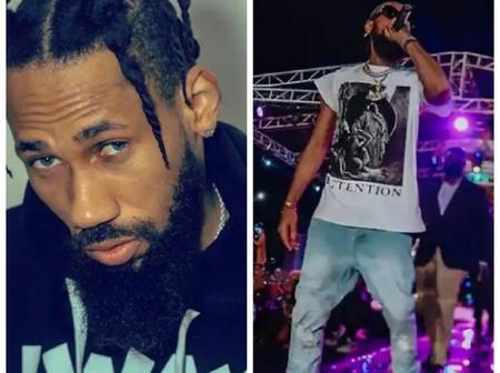 Olamide, Fireboy DML, Samklef & others react as Phyno share photos of himself performing on stage