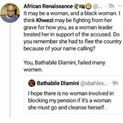 Bathabile Dlamini in hot water after the painful past is brought up because of her tweet
