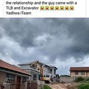 SEE: A man demolished the house he built for his bae after she broke up with him