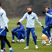 Photos of Chelsea players undergoing training for their Thursday's EPL clash against Liverpool
