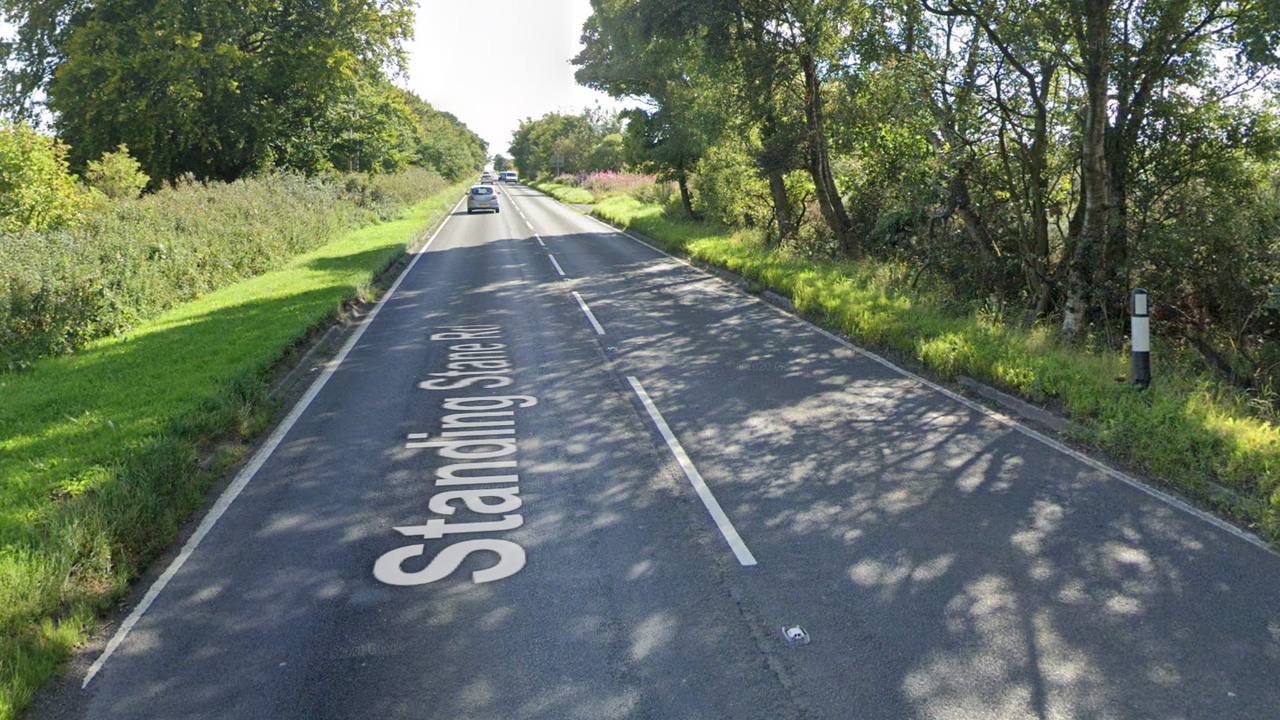 Cops seal off lane of busy Fife road after horror motorbike smash