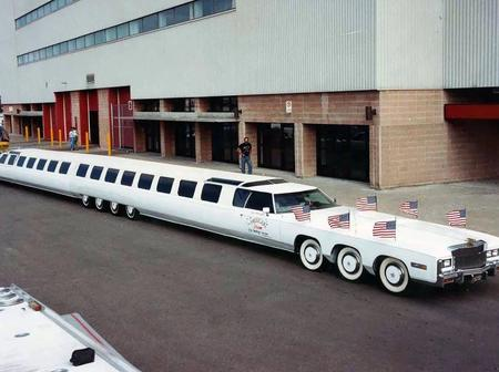 See The World's Longest Car With a Swimming Pool and Helicopter Landing Space [Photos]