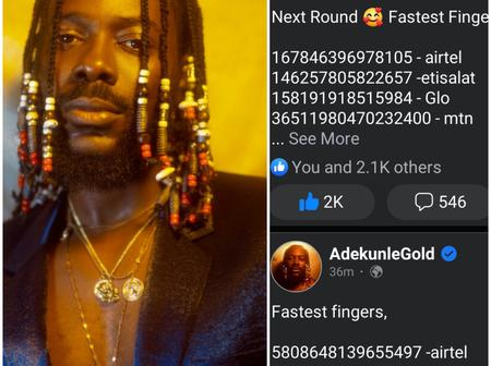 See What Adekunle Gold Did To His People That Got Reactions (Photos)