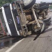 Accident: un camion transportant du béton s'est renversé sur l'autoroute du nord