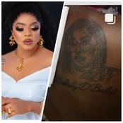 Comedian Badmus Olakunle Draws Bobrisky On His Back