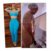Funny Moment Toke Makinwa Showers Praise On Her Staff (Video)