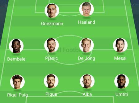 How will Barcelona line-up with Erling Haaland in the Team