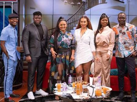 See Nana Ama Mc Brown, Hajia4Real, Fadda Dickson, Salma Mumin, Teacher Kwadwo, Posing for the camera